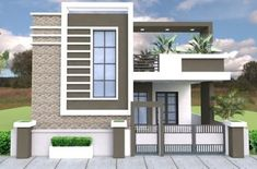 House front - One Story House with 3 Bedroom Plot Single Floor House Design, Modern Small House Design, Simple House Design, Bungalow House Design, House Front Design, Indian House Plans, House Design Pictures, Independent House, Village House Design