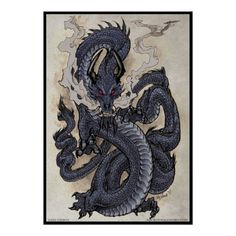 Man has always been inspired by dragons. As well as statues, many artists have desired to capture the essence of living dragons. But pictures fail to truly express what it is to be in a living dragon's presence. Japanese Tattoo Art, Japanese Art, Fantasy Dragon, Fantasy Art, Fantasy Creatures, Mythical Creatures, Dragons, Chinese Dragon Tattoos, Chinese Dragon Drawing