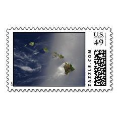 View of Hawaii from Space Stamps