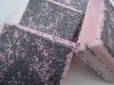 Japanese Cherry Blossom Soap, Black and Pink Soap, Poppy Seed Soap, Homemade Soap, Pretty Soap, Bar Soap  by HoookedSoap, $4.50
