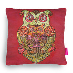 Owl Family Cushion - temporarily available from the Ohh Deer Competition Shop