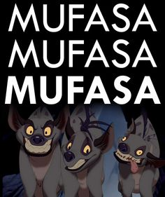 The hyenas in Disney Lion King quote Disney Dream, Disney Love, Disney Magic, Disney And Dreamworks, Disney Pixar, Walt Disney, Disney Villains, Disney Actual, Disney And More