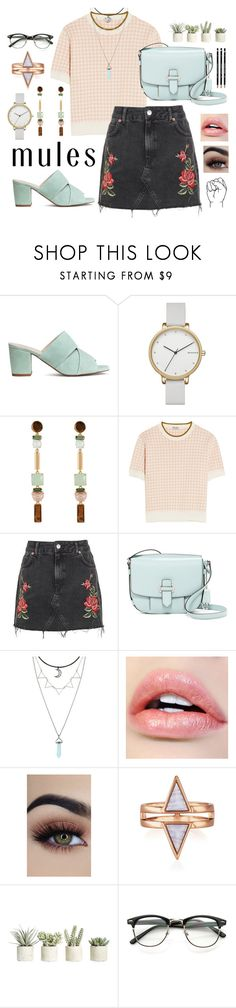 """""""Mild Mules #255"""" by brie-the-pixie ❤ liked on Polyvore featuring Skagen, Henri Bendel, Miu Miu, Topshop, MICHAEL Michael Kors, Hot Topic and Allstate Floral"""