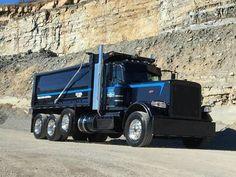 Big Rig Trucks, Dump Trucks, Lifted Trucks, Cool Trucks, Peterbilt 389, Peterbilt Trucks, Custom Big Rigs, Custom Trucks, Hydraulic Ram