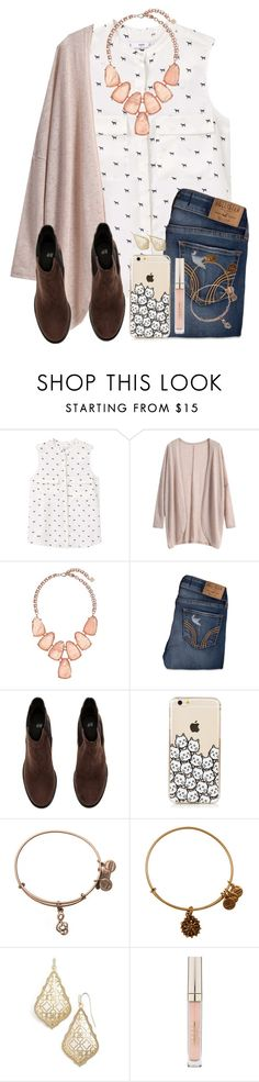 """No School Today So I've Just Been Laying & Doing Nothing All Day"" by twaayy ❤ liked on Polyvore featuring MANGO, Kendra Scott, Hollister Co., H&M, Alex and Ani and Stila"