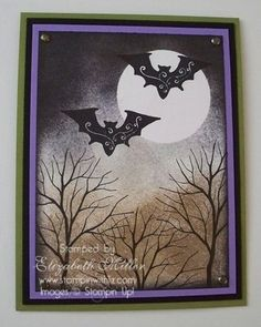 Halloween stamped card