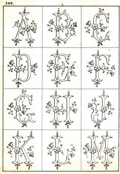 Vintage Embroidery Patterns Free Easy Cross, Pattern Maker, PCStitch Charts Free Historic Old Pattern Books: Sajou No 346 Wood Burning Stencils, Wood Burning Crafts, Wood Burning Patterns, Wood Burning Art, Stencil Wood, Embroidery Designs, Embroidery Transfers, Embroidery Stitches, Hand Embroidery