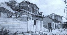 Barranco de los Alemanes 1905 Calle Bajo Mercado hoy P.J.Mendez