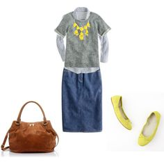 LOVE THIS LOOK!!! YELLOW, GRAY!!!