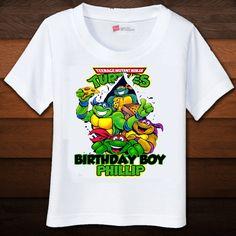 Alanna wants a Ninja Turtle Bday Party! Turtle Birthday Parties, Ninja Turtle Birthday, Ninja Turtle Party, Ninja Turtles, Personalized Birthday Shirts, Birthday Boy Shirts, Boy Birthday, Birthday Ideas, Birthday Stuff