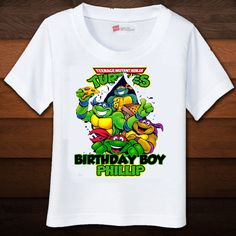 Teenage Mutant ninja turtle Birthday Shirt. $16.50, via Etsy.