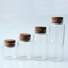 10pcs Clear Tear Drop Lamp Pattern Jars Vial Wishing Bottle Lover Couple