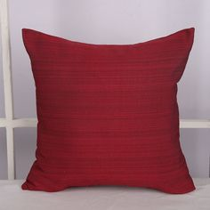 Deconovo® Wooden Pattern Cushion Cover, 18x18 inch, Dark Red: Amazon.co.uk: Kitchen & Home