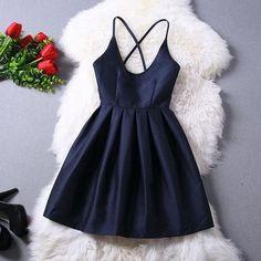 Women's V-Neck Halter Dress