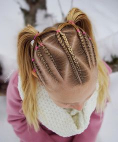 Girl classic fashion hairstyle idea - Page 56 of 145 - Inspiration Diary Lil Girl Hairstyles, Cute Hairstyles, Braided Hairstyles, Baby Hair Cut Style, Braided Updo, Braid Styles, Hair Dos, New Hair, Hair Beauty