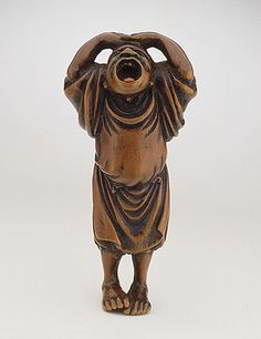 Gessen (Japan)   Peddler, late 18th-early 19th century  Netsuke, Wood