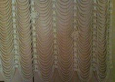 Tığ işi dekoratif tül perde yapımı