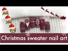 Christmas sweater nail art ❄ Easy winter design 2016 | nailcou - YouTube
