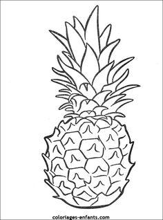 Pineapple fruits coloring pages