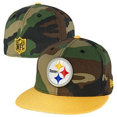 Get this Pittsburgh Steelers Ballistic Camo 5950 Fitted Cap at  ThePittsburghFan.com Pittsburgh Steelers Hats e9169862d