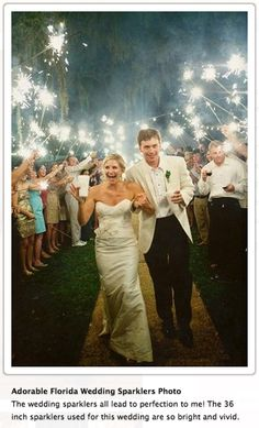 If buying sparklers, make sure they are the 36 inch, long-burning SMOKELESS sparklers that are specifically marketed to weddings. Dollar store sparklers won't cut it. Horror story here: http://petapixel.com/2015/04/28/how-arranging-a-sparkler-exit-almost-cost-me-my-career-as-a-wedding-photographer/