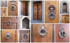 Knockers for front door Door Knobs And Knockers, Work Images, Front Door Design, Source Of Inspiration, Facade, Door Handles, Entryway, Italy, Doors