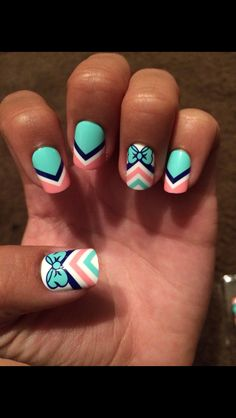 Cute bow nails