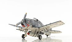 "Best Selling Grumman F6F Hellcat Fighter Aircraft Metal Model 12"" WWII Airplane with Free Shipping!"