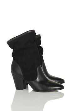 Rebecca Minkoff Brynn Scrunchy Leather & Suede Black Boots Size: 8New with tags 67% off Retail WAS $350.00 NOW $115.00