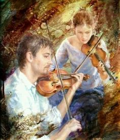 Discussion on LiveInternet - Russian Service Online diary Dance Paintings, Romance Art, Pictures To Paint, Art Music, Art Forms, Violin, Modern Art, Musicals, Music Instruments