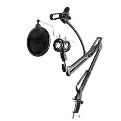 ALLOYSEED 360 Degree Rotation Microphone Metal Suspension Boom Arm Stand
