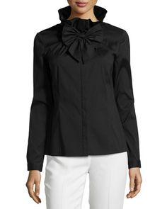 Extremely Cheap Online Pussy-bow Ruffled Silk-mousseline Blouse - Black Chloé Online Cheap Price The Cheapest Cheap Price Cheap Cheap Online lsJ1Q