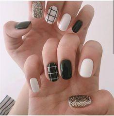 Pastel Nails, Cute Acrylic Nails, Acrylic Nail Designs, Cute Nails, Aycrlic Nails, Swag Nails, Grunge Nails, Stylish Nails, Trendy Nails