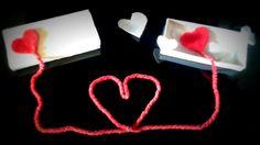 Hilo rojo... manualidad de san valentin
