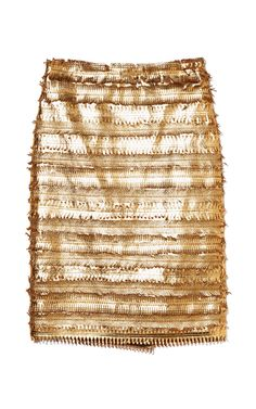 Patrícia Viera Mix Laser Fringes Skirt