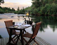 Huka Lodge Dining, Taupo, North Island, New Zealand