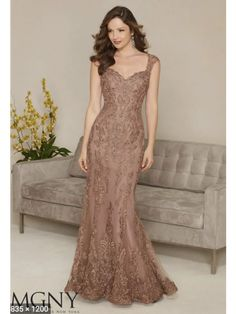 Other Mocha Lace MGNY 71314 wedding dress currently for sale at 81% off retail.