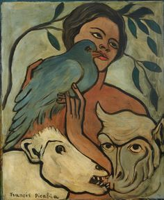 Francis Picabia (French, 1879-1953), Le pigeon bleu, 1935. Oil on canvas, 73 x 60 cm.