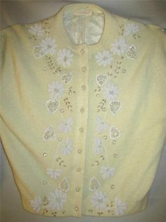 BEAUTIFUL VINTAGE CARDIGAN SWEATER LOTS OF BEADS & SEQUINS #Unbranded #Sweaters