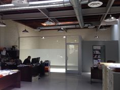 Frosted window film applied to the glass on the conference room of a stylish urban office in Los Angeles. As you can see in the picture, the...