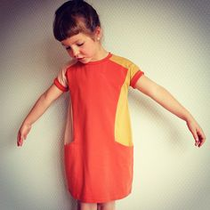 Colour blocking  the new Nore dress pattern from compagnie-m.com