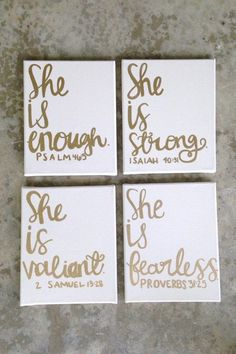 Canvas sign- dorm room decor- dorm room sign- girls nursery/room- custom canvas art- quote- canvases- she is fearless. Bible verses/ canv girls nursery/room custom canvas art quote canvases by AHalOfAGirl Bible Verse Canvas, Canvas Art Quotes, Canvas Signs, Scripture Quotes, Bible Scriptures, Nursery Room, Girl Nursery, Girls Bedroom, Nursery Ideas