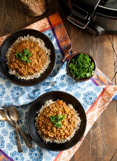 Slow Cooker Masala Lentils | An Easy, Flavorful Vegan Dinner | The Full Helping