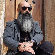 Bald With Beard, Beards, Black And White, How To Wear, Fashion, Moda, Black N White, Fashion Styles, Bald Head With Beard
