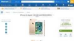 [Wal-Mart] iPhone 6s Apple 128 GB Gold MKQV2BR / A 3007148 - de R$ 2.947,05 por R$ 2.899,00 (1% de desconto)
