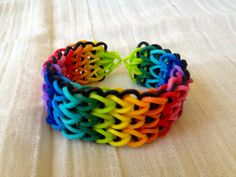 Rainbow Loom bracelet rubber bands multicolor by ArtyCraftyStudio
