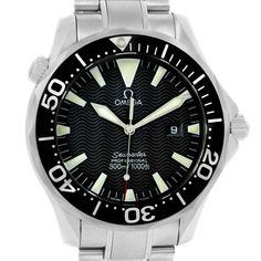 15078 Omega Seamaster 41mm Black Dial Stainless Steel Mens Watch 2264.50.00 SwissWatchExpo