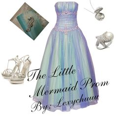 Princess Prom- The Little Mermaid, created by lexychuuu on Polyvore
