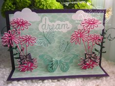 """by Stamping with Bibiana: 3D Pop-Up Card. using the 2014 Spring release of Memory Box dies, card featured at the Spanish blog; """"A crear se dijo!"""" as part of my contributions as a DTM"""