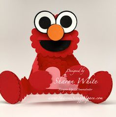Elmo Punch Art Card by shargod - Cards and Paper Crafts at Splitcoaststampers Paper Punch Art, Punch Art Cards, Paper Art, Craft Punches, Kids Cards, Baby Cards, Valentine Day Cards, Card Tags, Cool Cards
